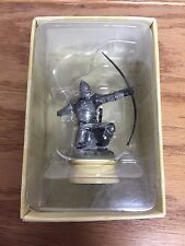 Gondorian Archer ~ Lord of the Rings LOTR Chess Collection White Pawn Figure
