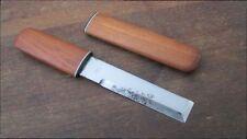 Vintage Sushi Chef's Small Carbon Steel Usuba Veg Paring Knife w/Saya - SHARP!