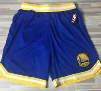 $40 Golden State Warriors Men's Sz LARGE Basketball Shorts UNK Blue/Yellow NBA