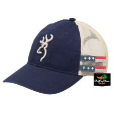 NEW BROWNING WOMENS STAR AND STRIPES BALL CAP HAT BUCKMARK LOGO RED WHITE BLUE