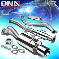 "4"" ROLLED TIP RACING CATBACK+HIGH FLOW PIPE EXHAUST SYSTEM FOR 96-00 CIVIC 3DR"