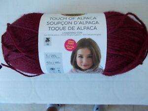 Lion Brand Touch of Alpaca alpaca blend yarn, Crimson, 1 large skein (415 yds)