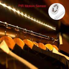 LED Wireless Motion Sensor Closet Strip Light Cabinet Stair Night Lamp Battery