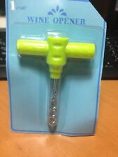 Wine Opener Corkscrew Green Sealed BPA free NEW