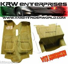 1982 PONTIAC FIREBIRD KNIGHT RIDER KITT K2000 CARPET COMPLETE WITH MASSBACKING