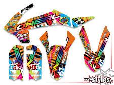 KTM SX 50 65, 16-17 | SX 85 13-17 | MX FMX SILVER DECALS KIT Aufkleber Sticker