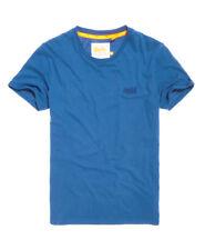 New Mens Superdry Orange Label Lite Longline T-Shirt Carbon Blue