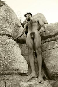 """TERRY HASTINGS """"Legs"""" Fine Art Photography Nude Male Gay 8x12 w 12x16 mat sepia"""