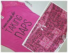 Plus size Pajamas 3X Womens Sleep Shirt Pajama Set Lounge Bottoms PJs Pink NWT