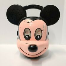 Vintage Disney Mickey Mouse Head Am Fm Radio Dapy Model D021 Untested