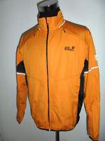 rare vintage Jack Wolfskin Stormlock Jacke outdoor oldschool orange gelb M