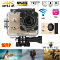 4K 2'' LCD WiFi Waterproof Action Camera 1080P 16MP 170° Sports DV Cam For GOPRO