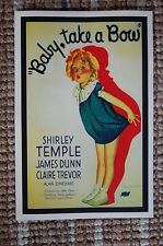 Baby Take a Bow Lobby Card Movie Poster Shirley Temple