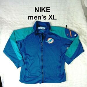 #34 MIAMI DOLPHINS NIKE THROWBACK GAME USED PRACTICE Zip Hoodie - Mens Size XL
