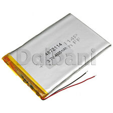 4872114, Internal Lithium Polymer Battery 3.7V 4600mAh 48x72x114