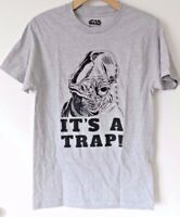 STAR WARS IT'S A TRAP ADMIRAL ACKBAR GRAPHIC TEE T-SHIRT OFFICIALLY LICENSED
