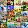 DIY Painting Canvas Frame Flowers Deer Horse Dog Cat 40*50cm Paint By Number kit