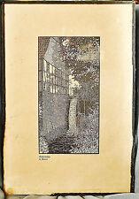 Künstlergrafik Lithographie Gerhard Wedepohl, Wassermühle in Bieren, unter Glas