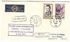 LETTRE  PREMIER VOL AIR FRANCE  FRANCE / POLYNESIE 1960 RETOUR A L ENVOYEUR