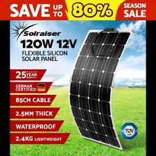 Flexible 120W Solar Panel Power Battery Mono Charging 12V