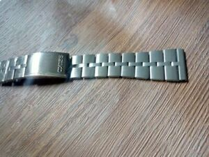 20mm straight Steel watch band fishbone replacement Bracelet For 6139 bull head
