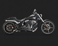 Vance & Hines Big Radius 2-Into-2 Black for 2013-2017 Softail Breakout - 46065
