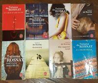 Lot de 8 ROMANS DE TATIANA DE ROSNAY  ed le livre de poche