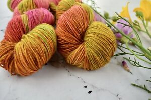 """Hand Dyed  """"Hello Parker"""" 4 Ply Knitting Yarn  X 1 Skein"""