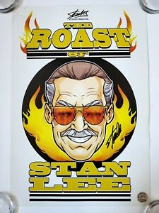 RARE SIGNED STAN LEE ROAST VERY LIMITED EDITION PRINT COA HOLO LITHO SPIDER-MAN
