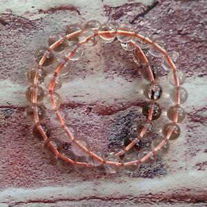 9MM Natural Copper Rutilated Quartz Beads Bracelet AAA Wealthy Bracelet