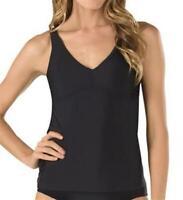 Speedo Women's 182262 Powerflex eco Strappy Tankini top Black Size S
