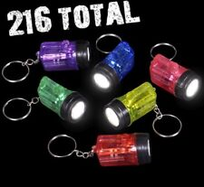 18 dozen ( 216 TOTAL ) MINIATURE flashlight keychain - wholesale party set
