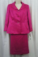 Le Suit Petite Skirt Suit Sz 4P Orchid Pink English Garden Business Cocktail
