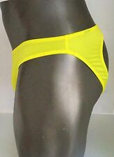 MEN'S SATINY JOCK JOCKSTRAP BACKLESS YELLOW BRIEF (ONE SIZE FITS MOST)