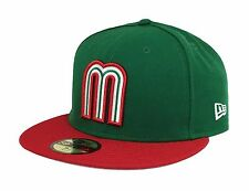 Era 59fifty Hat World Baseball Classic Mexico Fitted 5950 Cap Green Red 7 1/2