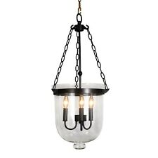 Vintage Old Fashioned Bell-shaped glass foyer overcounter Pendant Chandelier