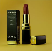 Chanel Aqualumiere Lipstick # 75 Samoa Lip Shine Authentic Full Size NIB Rare