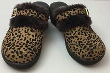 Yellow Box Leporad Print Crystal Buckle Mule Clog Slip On Shoe Footwear