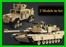 Tank Building Blocks Figures Toys Bricks Military Army Model 1463pcs Theme M1A2