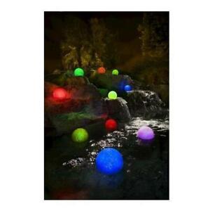 Color Changing LED Floating Waterproof Light Up Glitter Globe