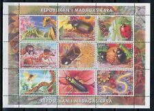 1999 - MADAGASIKARA - INSETTI - FOGLIETTO - MNH