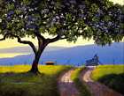 """Curtis Wilson Cost  """"Back Road to Makena """"  Giclée on Canvas  COA 110 / 444"""