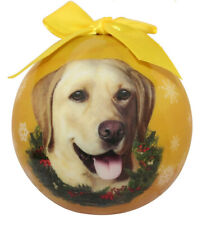 Yellow Lab Christmas Ornament Shatter Proof Ball Easy To Personalize