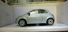 MONDO MOTORS 1:18 AUTO DIE CAST FIAT 500 C CABRIO ARGENTO  ART. 50029
