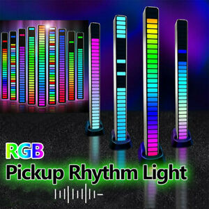 32 LED RGB Car Voice Activated Pickup Music Rhythm Light Atmosphere Light Party