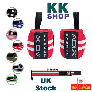 24 Inch Power Lifting Wrist Wraps Sold as Pair & One Size Fits All