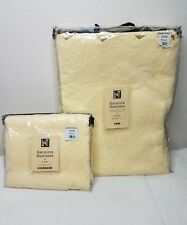 Egyptian Cotton Twin Coverlet & sham yellow Linens & Things Barcelona Matelasse