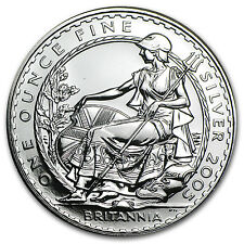 2005 Great Britain 1 oz Silver Britannia BU - SKU #5979
