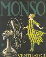 MONSO vintage art print A1 SIZE PRINT poster  FOR YOUR FRAME painting advert