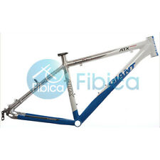 "New GIANT ATX PRO Alloy MTB Mountain Bike Frame BSA 26er 17"" Size S Blue Silver"